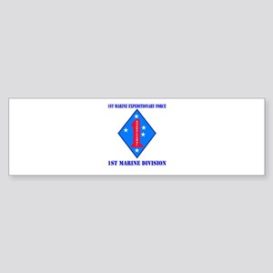 1st Marine Division with Text Sticker (Bumper)