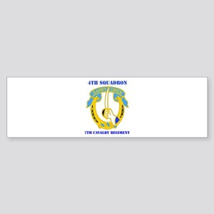 DUI - 4th Sqdrn - 7th Cavalry Regt with Text Stick