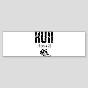 run hebrews Bumper Sticker