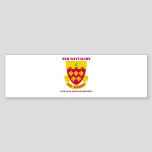 DUI - 2nd Bn - 77th FA Regt with Text Sticker (Bum