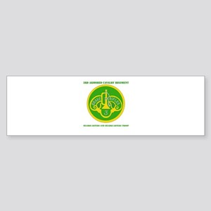 HQ and HQ Troop, 3rd ACR with Text Sticker (Bumper
