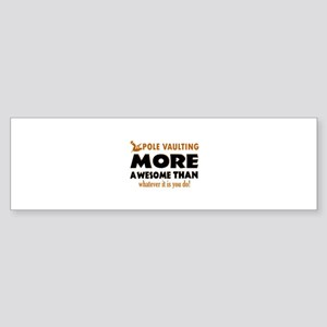 Awesome Polevault designs Sticker (Bumper)