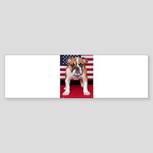 All American Bulldog Sticker (Bumper)