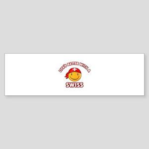 Cute Swiss design Sticker (Bumper)