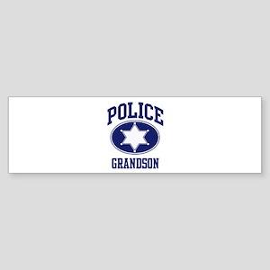 Police GRANDSON (badge) Bumper Sticker