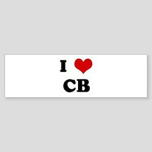 I Love CB Bumper Sticker