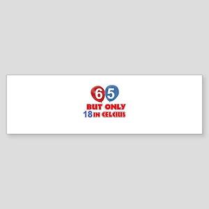 65 year old designs Sticker (Bumper)