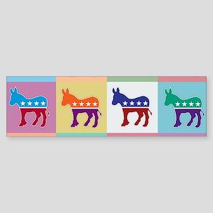 Pop Art Democrat Donkey Logo Bumper Sticker