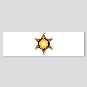 Sheriff's Department Badge Sticker (Bumper)