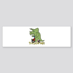 Triceratops Bicycle Bumper Sticker
