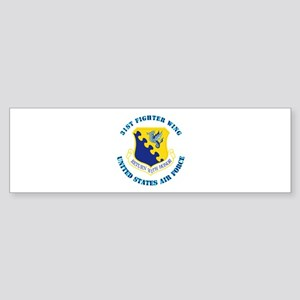 31st Fighter Wing with Text Sticker (Bumper)