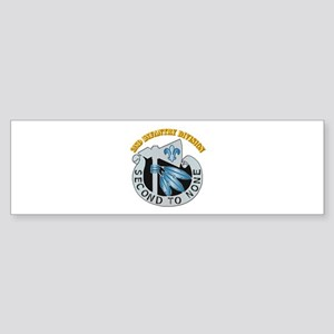 DUI - 2nd Infantry Division with Text Sticker (Bum