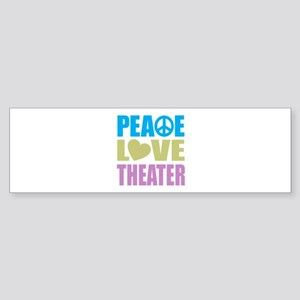 Peace Love Theater Sticker (Bumper)
