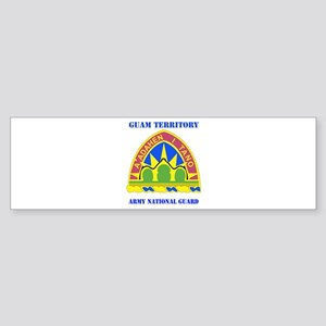DUI-GUAM TERRITORY ANG WITH TEXT Sticker (Bumper)