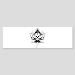 ace of spades skull Bumper Sticker
