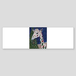 Christmas Giraffe Bumper Sticker