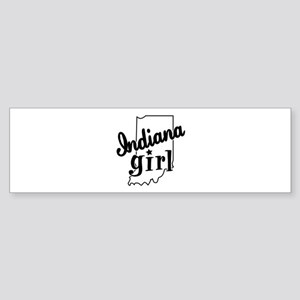 Indiana Girl Bumper Sticker