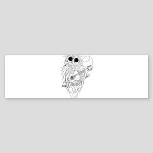 Music owl Bumper Sticker
