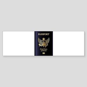 United States of America Passport Bumper Sticker