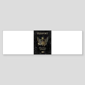 Worn United States of America Passp Bumper Sticker