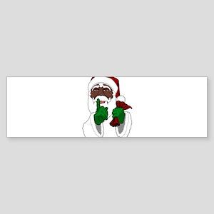 African Santa Clause Bumper Sticker
