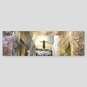 Jesus at Empty Tomb Easter Resurrec Bumper Sticker