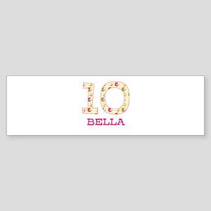10th Birthday Personalized Sticker (Bumper)