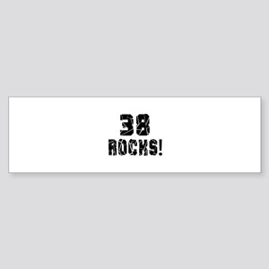 38 Rocks Birthday Designs Sticker (Bumper)