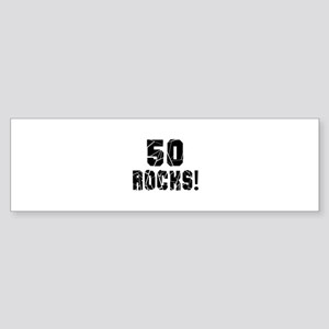 50 Rocks Birthday Designs Sticker (Bumper)