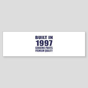 Built In 1997 Sticker (Bumper)