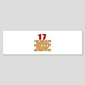 17 birthday Designs Sticker (Bumper)