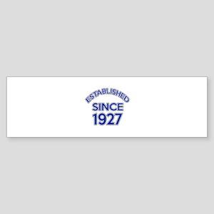 Established Since 1927 Sticker (Bumper)