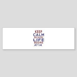 Life Begins At 14 Sticker (Bumper)