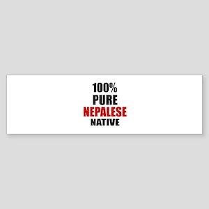100 % Pure Nepalese Native Sticker (Bumper)