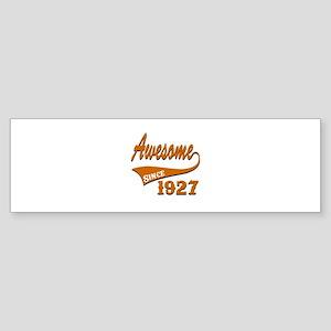 Awesome Since 1927 Birthday Desig Sticker (Bumper)