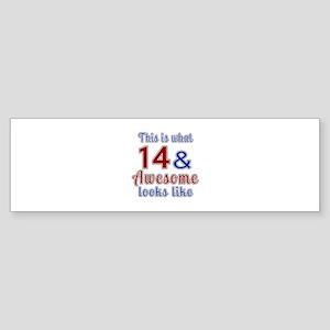 14 Awesome Birthday Designs Sticker (Bumper)