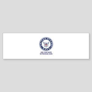US Navy Symbol Personalized Sticker (Bumper)