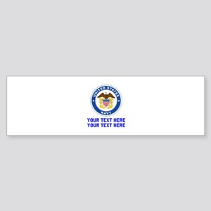 US Navy Sign Personalized Sticker (Bumper)