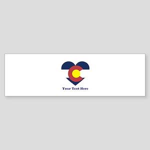 Colorado Flag Heart Personalized Sticker (Bumper)