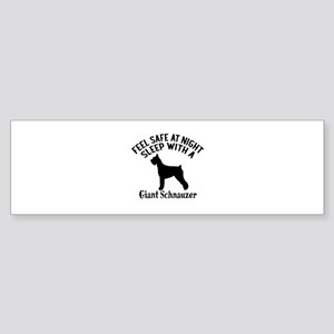 Sleep With Giant Schnauzer Dog De Sticker (Bumper)