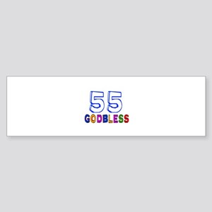 55 God Bless Birthday Designs Sticker (Bumper)