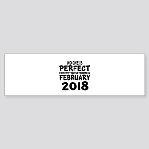 February 2018 Birthday Designs Sticker (Bumper)