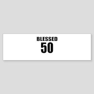 Blessed 50 Birthday Designs Sticker (Bumper)