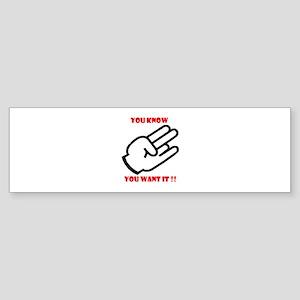 SHOCKER !! Bumper Sticker