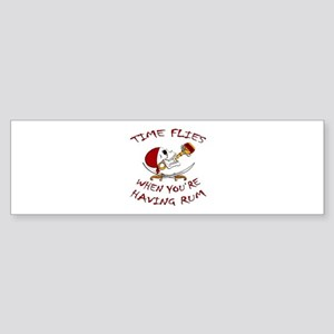 Time Flies When You're Having Rum Bumper Sticker