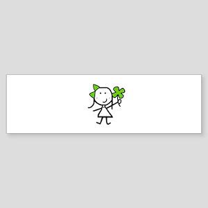 Girl & Clover Sticker (Bumper)