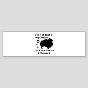 Pomeranian Mommy Sticker (Bumper)