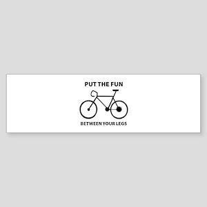 Fun between your legs. Sticker (Bumper)