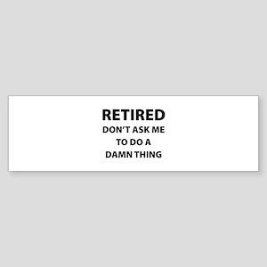 Retired Sticker (Bumper)