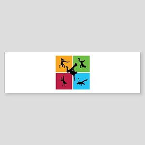 Nice various breakdancing Sticker (Bumper)
